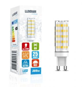 Pixy LED G9 Dimmable 4W 6000K Cool White, 370lm, Clear Finish, 3yrs Warranty 18*49mm