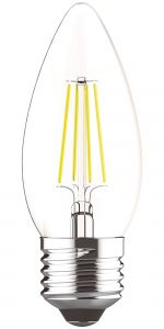 Value Classic LED Candle E27 Dimmable 4W Warm White 2700K Color-Box, 400lm, Clear Finish, 3yrs Warranty