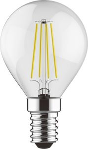 Value Classic LED Ball E14 6.5W Natural White 4000K, 806lm, Clear Finish, 3yrs Warranty