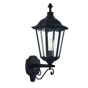 Burford Single Outdoor Wall Light Matt Black/Clear Glass Finish