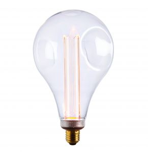 XL E27 2.5W 2600K, 120lm LED Dimple Globe 148mm Bulb With Clear Glass