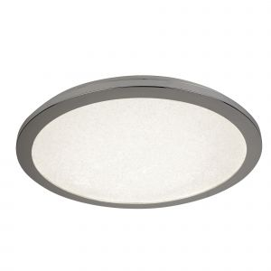 8100-30CC LED Flush Ceiling Light, Diameter 30Cm, Chrome And Crystal Sand, IP44
