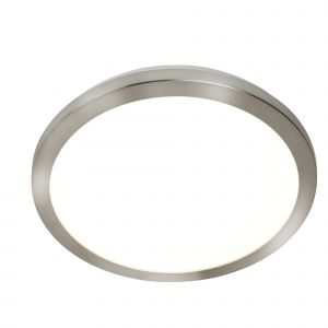 8101-40SS LED Flush Ceiling Light, Diameter 40Cm, Satin Silver And Acrylic, IP44