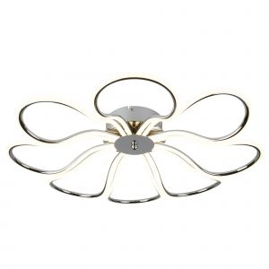 9278-8CC Foliage 8 Light LED Ceiling Flush, Chrome
