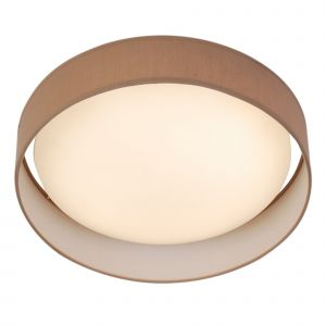 9371-37BR MODERN 1LT LED FLUSH CEILING LIGHT, ACRYLIC, BROWN SHADE