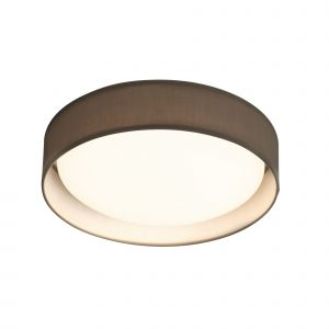 9371-37GY Modern 1 Light LED Flush Ceiling Light, Acrylic, Grey Shade