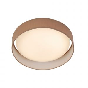 9371-50BR Modern 1 Light LED Flush Ceiling Light, Acrylic, Brown Shade