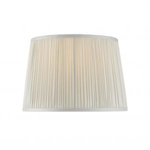 """Wentworth 12"""" Silver Satin 100% Silk Tapered Hand Stitched Single Pinch Pleats Fabric Shade"""