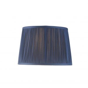 """Wentworth 10"""" Midnight Blue 100% Silk Tapered Hand Stitched Single Pinch Pleats Fabric Shade"""