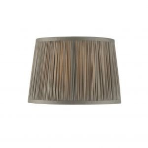 """Wentworth 10"""" Charcoal Grey 100% Silk Tapered Hand Stitched Single Pinch Pleats Fabric Shade"""