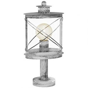 1 Light Silver Outdoor IP44 Pedestal Lamp