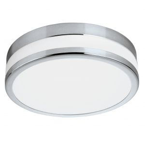 LED Palermo Integrated LED Polished Chrome IP44 Flush Ceiling Light With Glass Shades