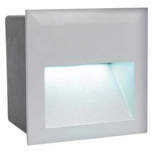 Zimba-Led 1 Light LED Outdoor IP65 Square Recessed Light Silver With Aluminium