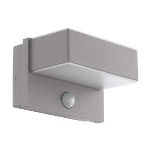 Azzinano 2 Light LED Outdoor Integrated IP44 Silver Wall Light With White Diffuser