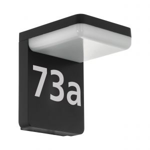 Amarosi 1 Light LED Integrated Outdoor IP44 Black Wall Light With Plastic White Diffuser