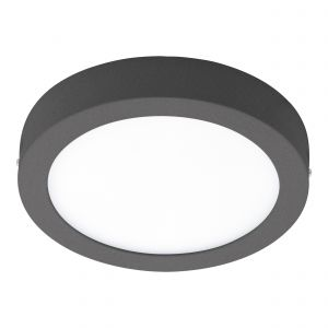 Argolis-C 1 Light LED Integrated Outdoor IP44 Wall/Flush Light  Anthracite With White Plastic Diffuser