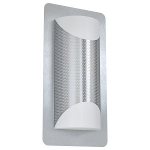 Cistierna 1 Light E27 Outdoor IP44 Wall Light With Plastic White Diffuser