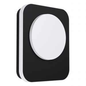 Madriz 1 Light LED Integrated Outdoor IP44 Wall Light Black With Plastic White Diffuser