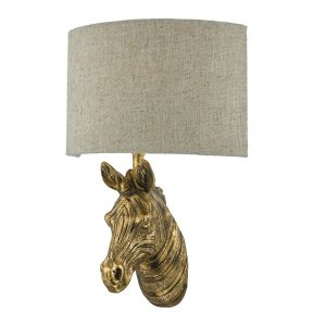 DAR ABB0735 Abby Single Wall Light Gold Finish