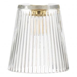 Dar ACC865 Accessory Clear Ribbed Glass Shade Only