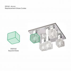 Deco DG0162 Accor Square Replacement Glass For D0162/0163/0164