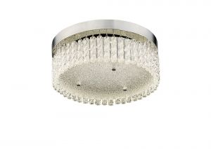 Diyas IL80054 Aiden Small Round Ceiling 18W 1600lm LED 4200K Polished Chrome/Crystal
