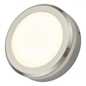 Dar AKO2168 Akos Single Outdoor Wall Light Aluminium LED Finish