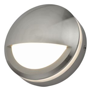 Dar AKO3268 Akos Single Outdoor Wall Light Aluminium LED Finish