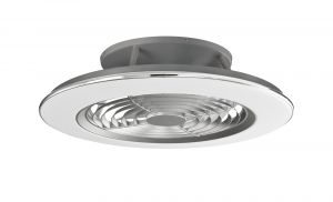 Mantra M6706 Alisio 70W LED Dimmable Ceiling Light With Built-In 35W DC Reversible Fan, Chrome/Grey Finish c/w Remote Control and APP Control