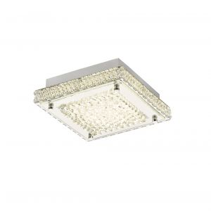 Diyas IL80070 Amelia Ceiling 12W 1200lm LED 4000K Stainless Steel/Crystal