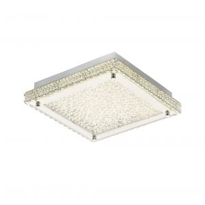 Diyas IL80071 Amelia Ceiling 18W 1800lm LED 4000K Stainless Steel/Crystal