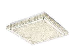 Diyas IL80072 Amelia Ceiling 21W 2100lm LED 4000K Stainless Steel/Crystal
