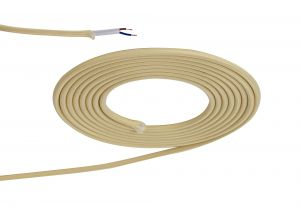 Nu Prema 1m Beige Braided 2 Core 0.75mm Cable VDE Approved (MOQ 25m Roll)