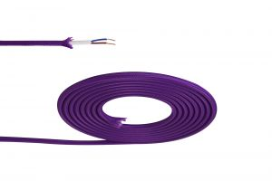 Nu Prema 1m Purple Braided 2 Core 0.75mm Cable VDE Approved (MOQ 25m Roll)
