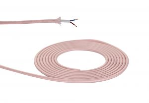 Nu Prema 1m Pink Braided 2 Core 0.75mm Cable VDE Approved (MOQ 25m Roll)