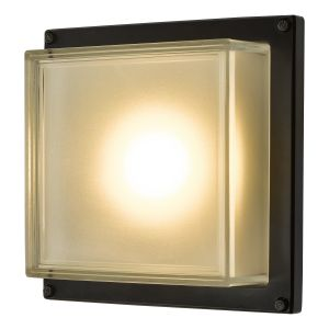 Dar AQU2122 Aquilina Single  Bathroom Wall Light Matt Black LED Finish