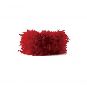 Diyas ILS10630 Arqus Feather Shade Red 250mm x 180mm
