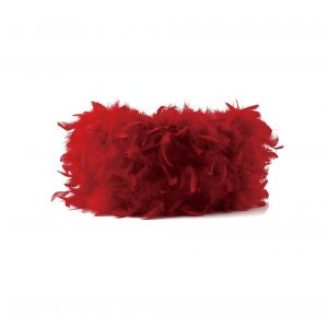 Diyas ILS10631 Arqus Feather Shade Red 330mm x 200mm