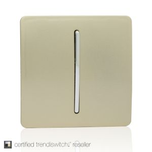 Trendi, Artistic Modern 1 Gang Retractive Home Auto.Switch Champagne Gold Finish, BRITISH MADE, 5yrs warranty