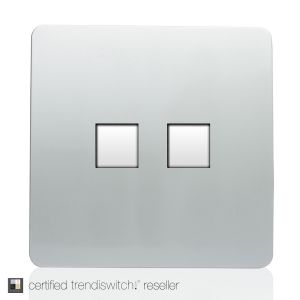 Trendi, Artistic Modern RJ11 Telephone & PC Ethernet Silver Finish, BRITISH MADE, 5yrs warranty