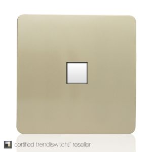 Trendi, Artistic Modern 1 Gang RJ11 Telephone Champagne Gold Finish, BRITISH MADE, 5yrs warranty