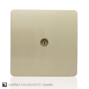 Trendi, Artistic Modern TV Co-Axial 1 Gang Champagne Gold Finish, BRITISH MADE, 5yrs warranty