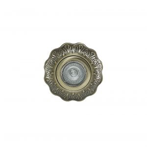 Diyas IL30845AB Aspen Vintage Pattern Downlight Round GU10 Antique Brass