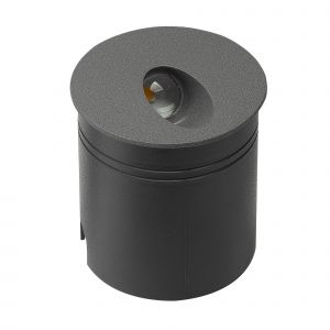 Aspen Wall Lamp Round Angle, 3W LED, 3000K, 88lm, IP65, Anthracite, 3yrs Warranty