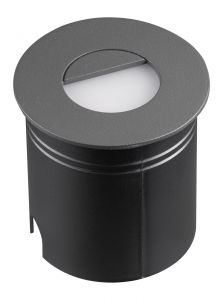 Aspen Wall Lamp Round Eyelid, 3W LED, 3000K, 112lm, IP65, Anthracite, 3yrs Warranty