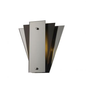 Deco D0012 Atlantis 250 x 260mm Wall Lamp, 1 Light E27 Black/Mirror