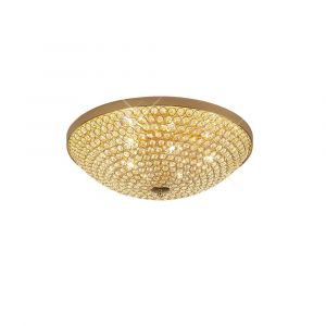 Ava Ceiling 6 Light G9 French Gold/Crystal