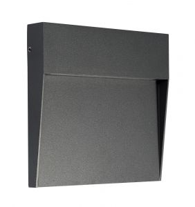 Baker Wall Lamp Large Square, 6W LED, 3000K, 266lm, IP54, Anthracite, 3yrs Warranty