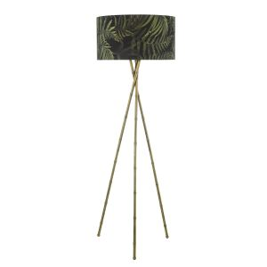 Dar BAM4975 Bamboo Single Floor Lamp Antique Brass Base Only Finish