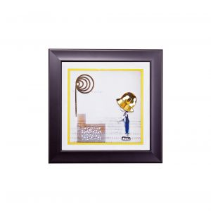 Diyas Home IL70519 (DH) Bambino Boy , Black Frame Amber, Blue, Clear Crystal